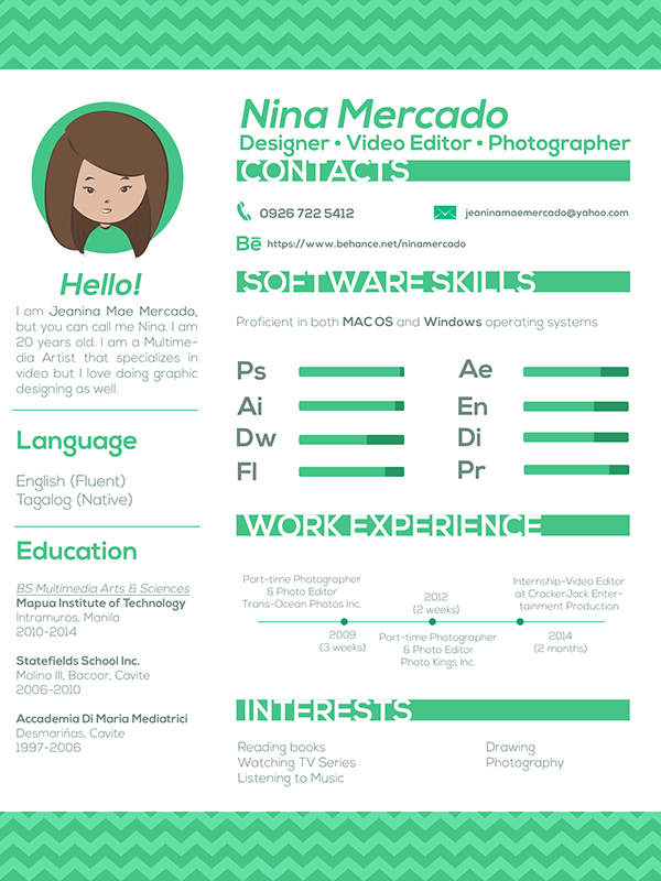 Creative Resume New By Jeanina Mae Mercado