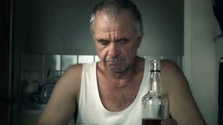 Alcoholic Man Suffering Drug Effects of Alcoholism and ...