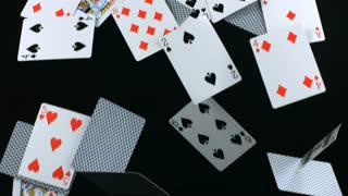 Dominoes Falling Wallpaper Slow Motion Falling Deck Of Cards Stock Video Footage