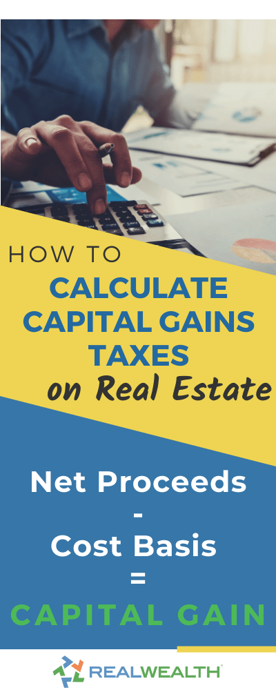 Infographic Highlighting How to Calculate Capital Gains on Real Estate