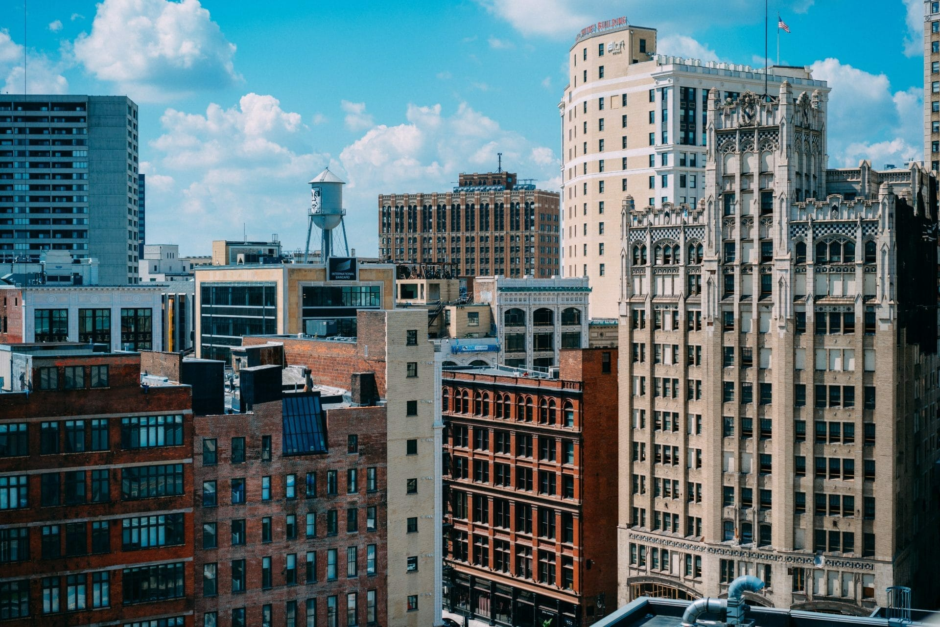 Picture of buildings in Detroit, USA for or Real Estate News for Investors Podcast Episode #490