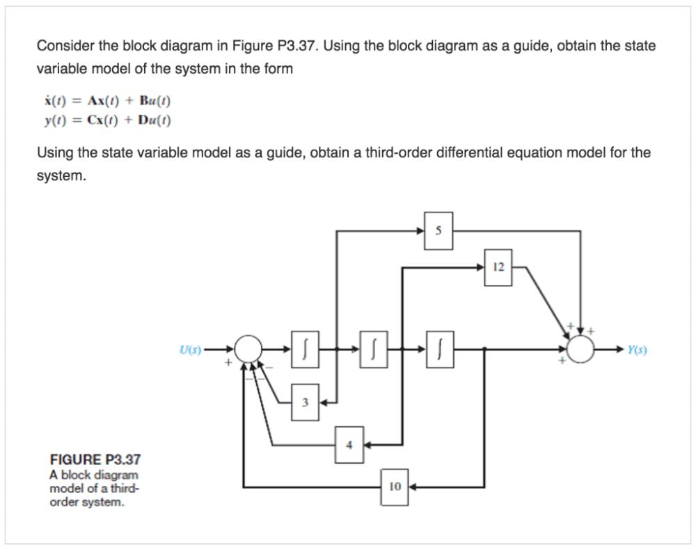 medium resolution of consider the block diagram in figure p3 37 using the block diagram as a
