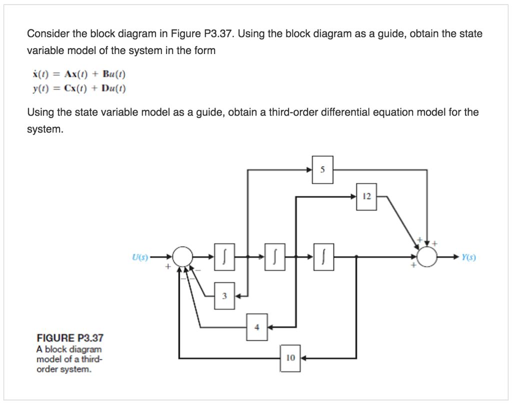 hight resolution of consider the block diagram in figure p3 37 using the block diagram as a