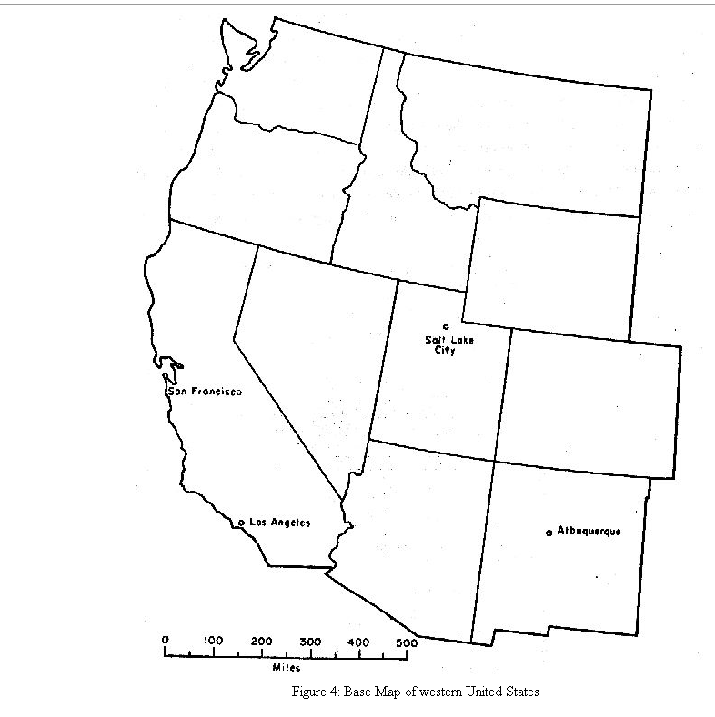 Solved: 4. On The Base Map Of The Western United States (F