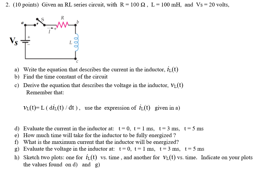Time Constant Inductor Formula