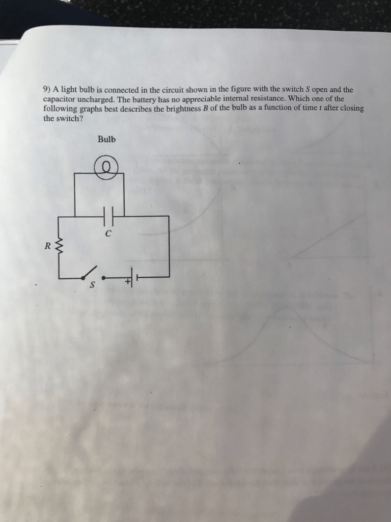 hight resolution of 9 a light bulb is connected in the circuit shown in the figure with the