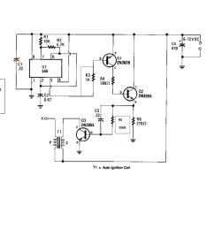 question circuit battery powered high voltage generator circuit diagram output voltage great enough to jump a l inch gap can be obtained from a 12 v  [ 1024 x 916 Pixel ]
