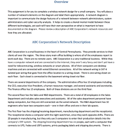 overview this assignment is for you to complete a wireless network design for a small company [ 1024 x 986 Pixel ]