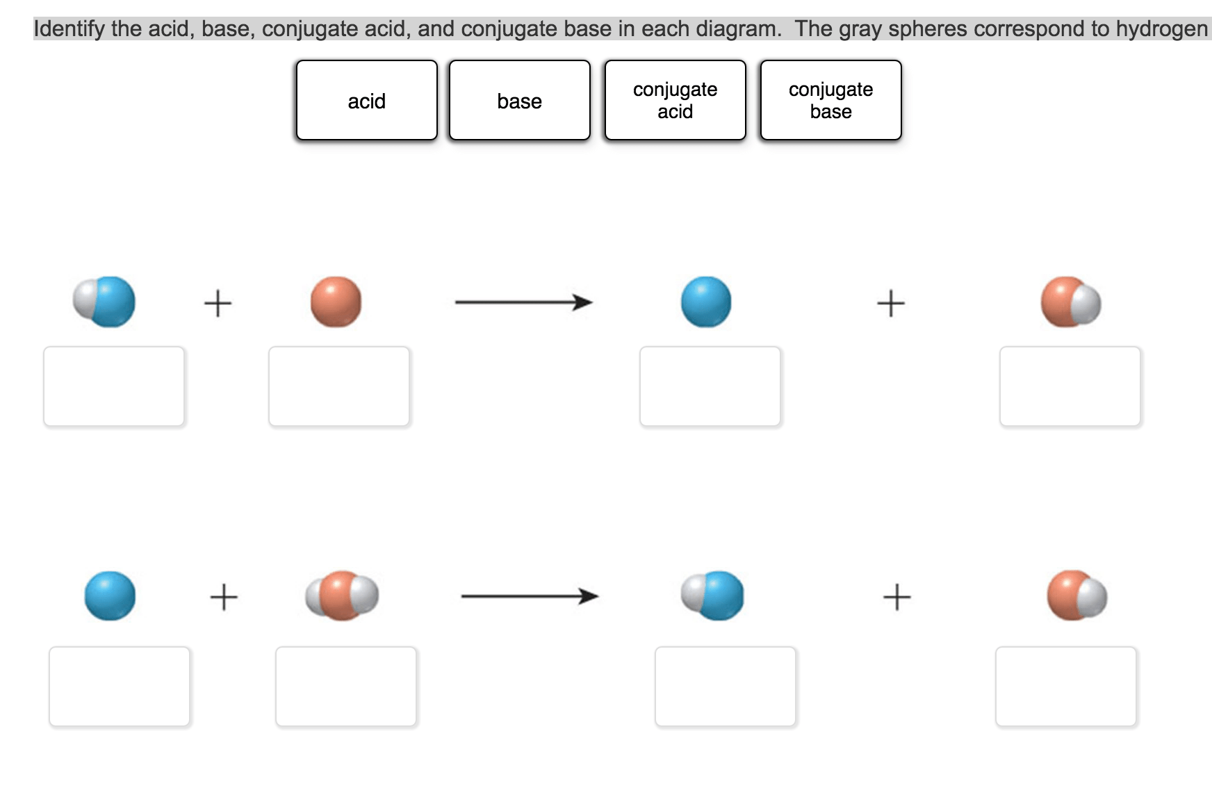 hight resolution of identify the acid base conjugate acid and conju