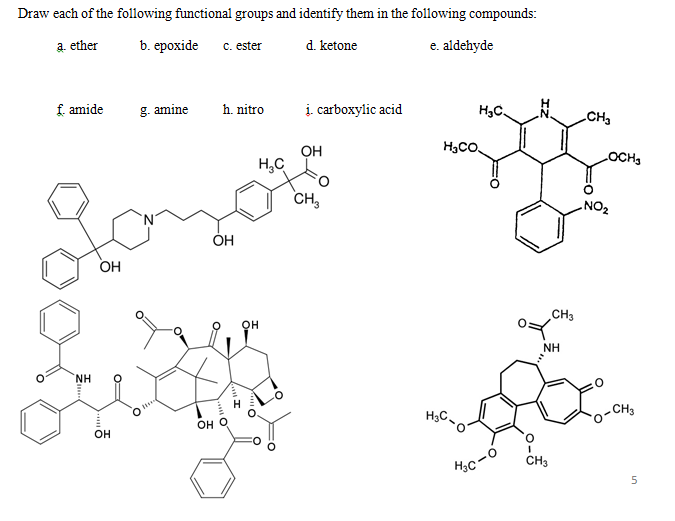 Solved: Draw Each Of The Following Functional Groups And I