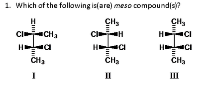 Solved: Which Of The Following Is(are) Meso Compounds