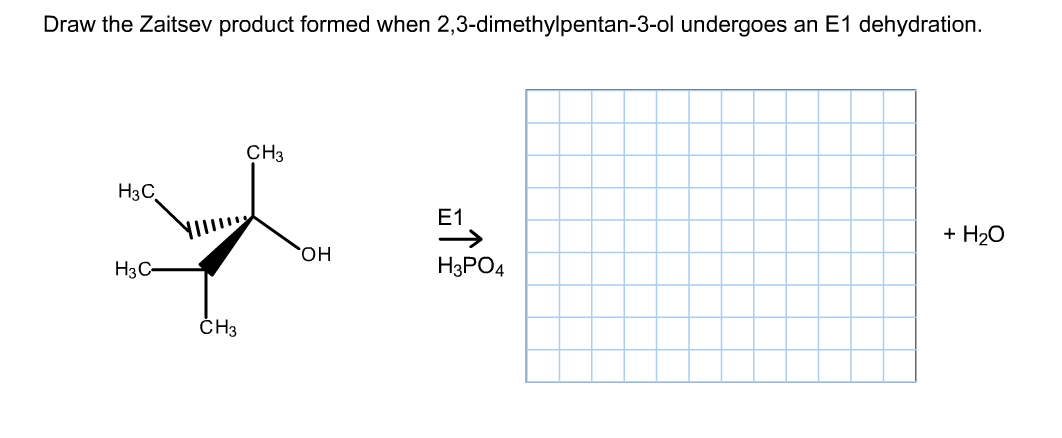 Solved: Draw The Zaitsev Product Formed When 2,3-dimethylp