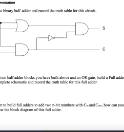 adder implementation 1 construct a binary half adder and record the truth table for [ 1024 x 776 Pixel ]