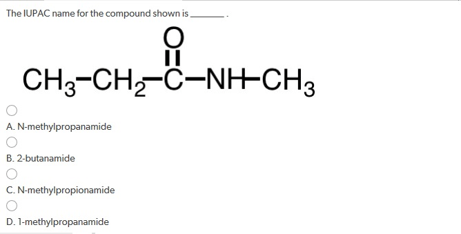 Solved: The IUPAC Name For The Compound Shown Is