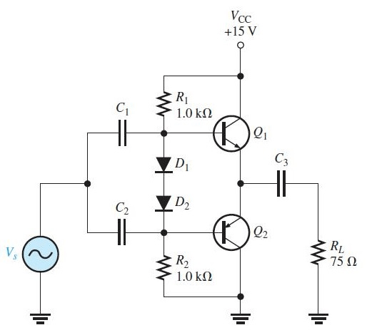 Solved: Refer To The Class AB Amplifier In Figure 7–46 Ope