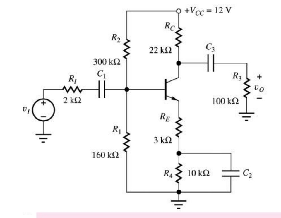 Solved: For The Common Emitter Amplifier Circuit Draw The