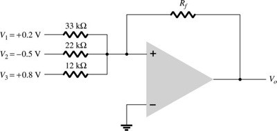 Solved: Calculate The Output Voltage Of The Circuit In Fig