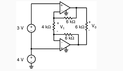 Solved: Determine The Voltages V1 And V0 As Labeled In The