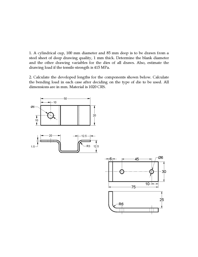 solved 1 a cylindrical