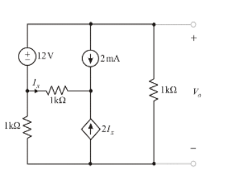 Solved: Find Vo In The Circuit Using Nodal Analysis, (3.39