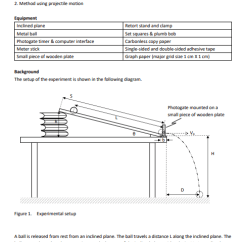 Retort Stand And Clamp Diagram Bt Nte5 Master Socket Wiring Solved In This Experiment You Are Going To Measure The I Question Instantaneous Velocity Of An Object 1 Method Us