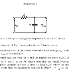question using the rc circuit diagram of fig 1 as a guide do the following steps write the differential equation of this circuit where the input voltage  [ 2046 x 1155 Pixel ]