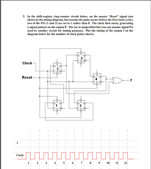 small resolution of in the shift register ring counter circuit below on the master