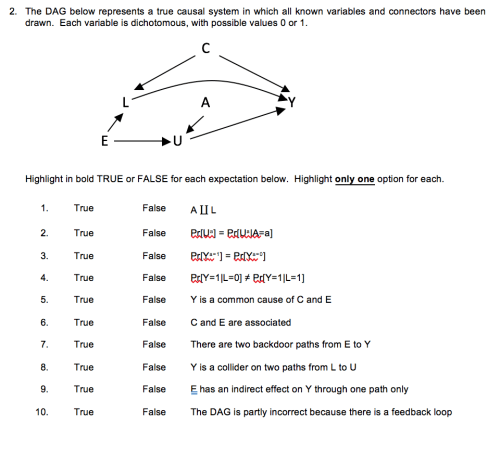 small resolution of the dag below represents a true causal system in which all known variables and