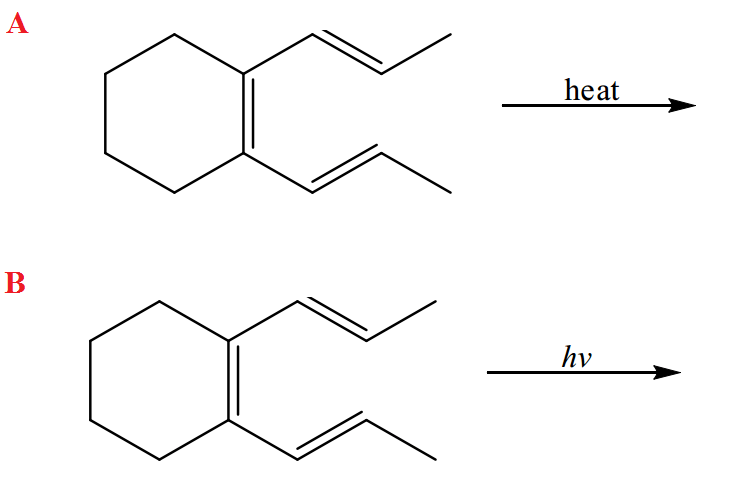 Solved: Predict The Product From The Following Electrocycl