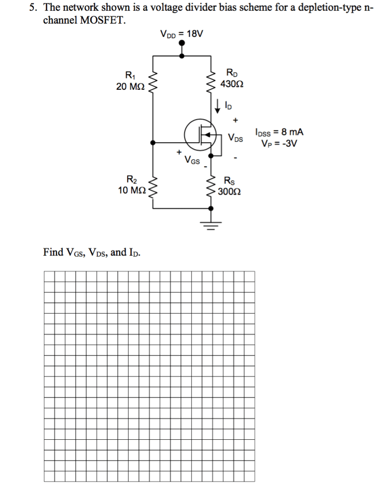 Solved: The Network Shown Is A Voltage Divider Bias Scheme