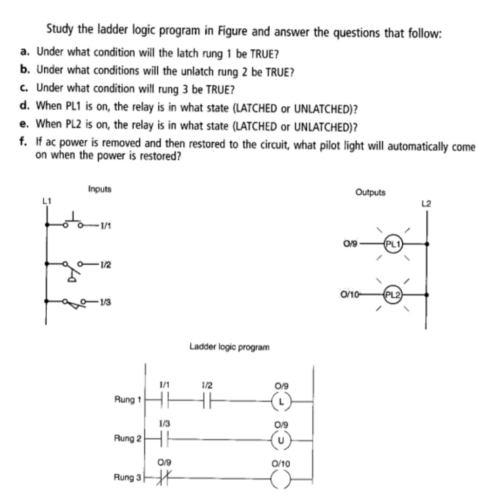 medium resolution of study the ladder logic program in figure and answer the questions that follow a