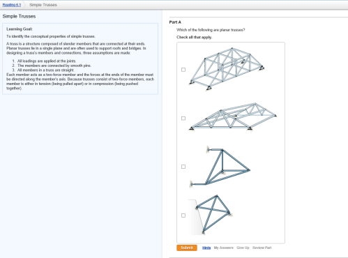 small resolution of image for learning goal to identify the conceptual properties of simple trusses a truss