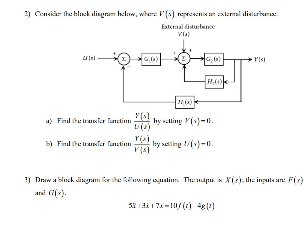 hight resolution of 2 consider the block diagram below where v s represents an external