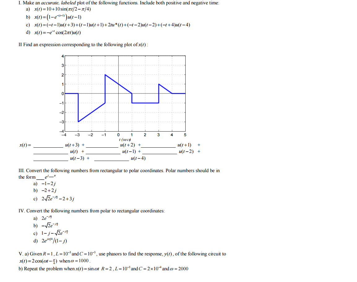 hight resolution of make an accurate labeled plot of the following fu