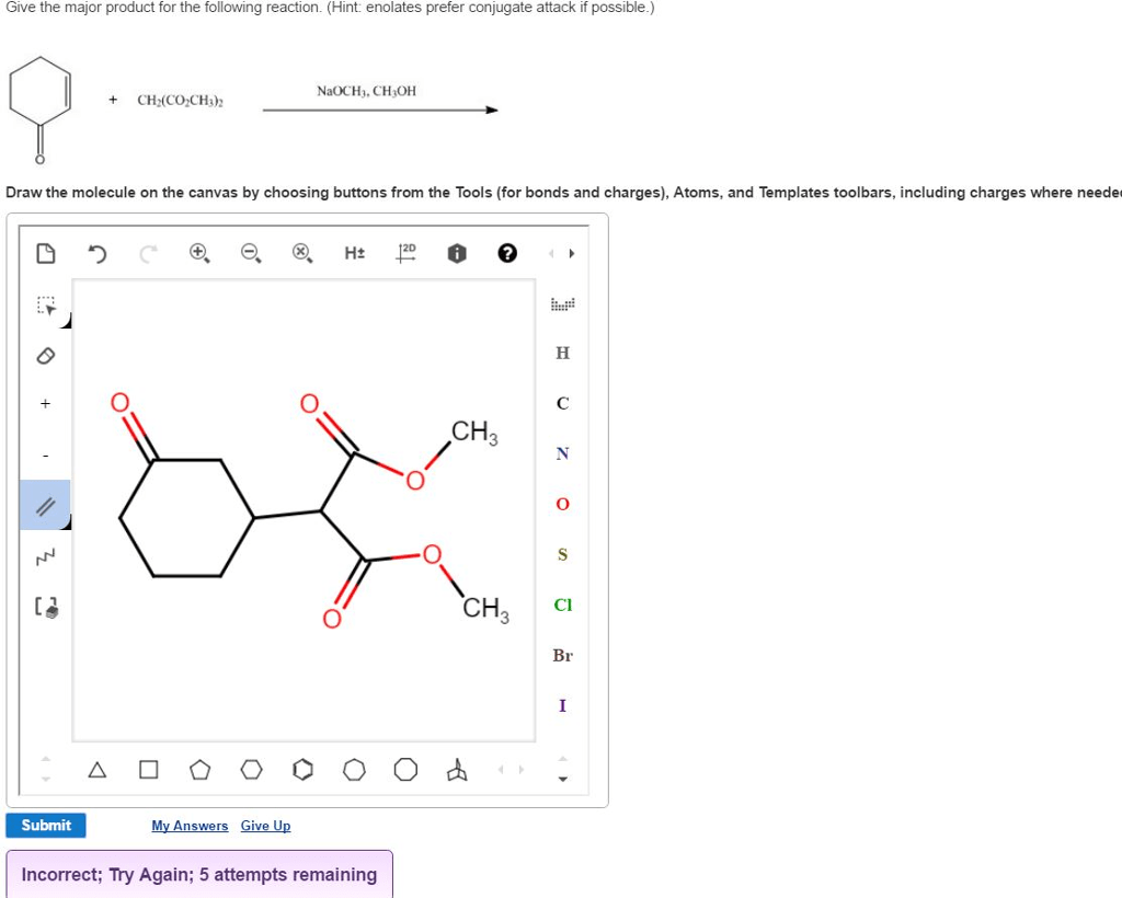Solved: Give The Major Product For The Following Reaction