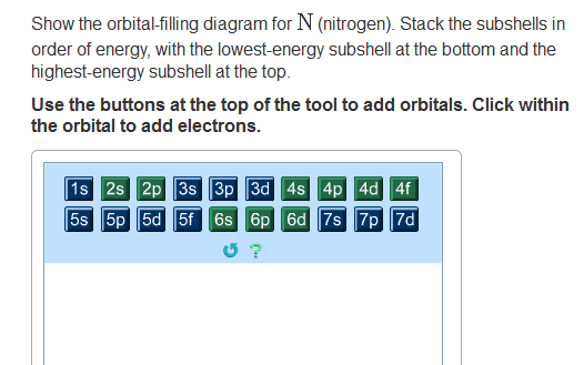 show the orbital filling diagram for bromine 3 wire plug solved n nitrogen question stack subshells in order of energy with t