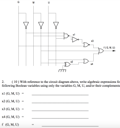 question with reference to the circuit diagram above write algebraic expressions for the following boolea  [ 1484 x 1228 Pixel ]