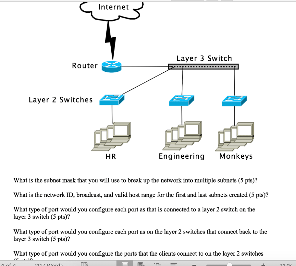 medium resolution of  internet layer 3 switch router layer 2 switches hr engineering monkeys what is the subnet mask