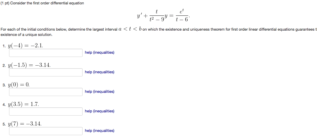 Solved: Consider The First Order Differential Equation Y