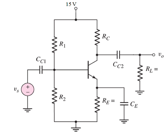 Solved: Design A Single-stage BJT Transistor Amplifier Cir
