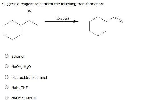 Solved: Suggest A Reagent To Perform The Following Transfo