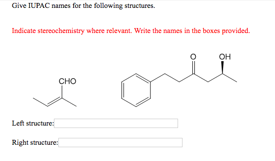 Solved: Give IUPAC Names For The Following Structures. Ind