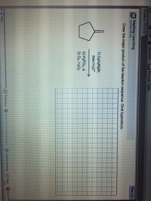 Draw The Major Product Of The Reaction Sequence Omit Byproducts : major, product, reaction, sequence, byproducts, Solved:, Chegg.com