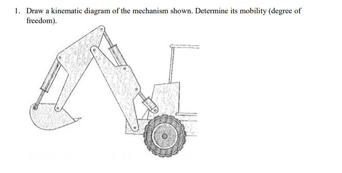 Solved: 1. Draw A Kinematic Diagram Of The Mechanism Shown