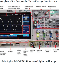 need help with these simple lab questions the oscilloscope used is shown above  [ 1558 x 946 Pixel ]