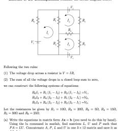 lu decomposition consider the circuit diagram belo [ 917 x 1024 Pixel ]