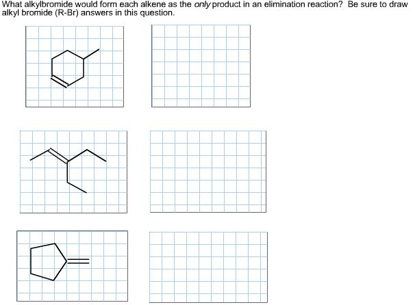 Solved: What Alkylbromide Would Form Each Alkene As The On
