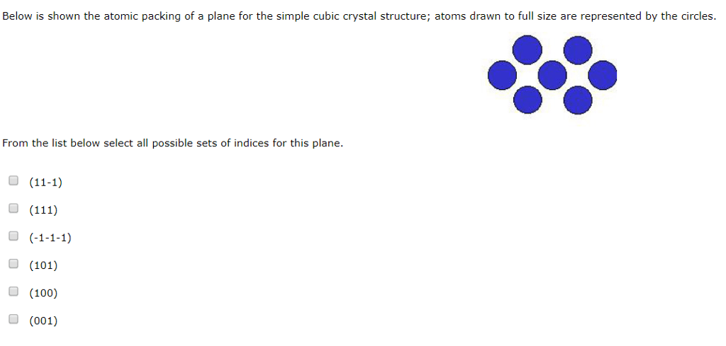 Solved: Below Is Shown The Atomic Packing Of A Plane For T