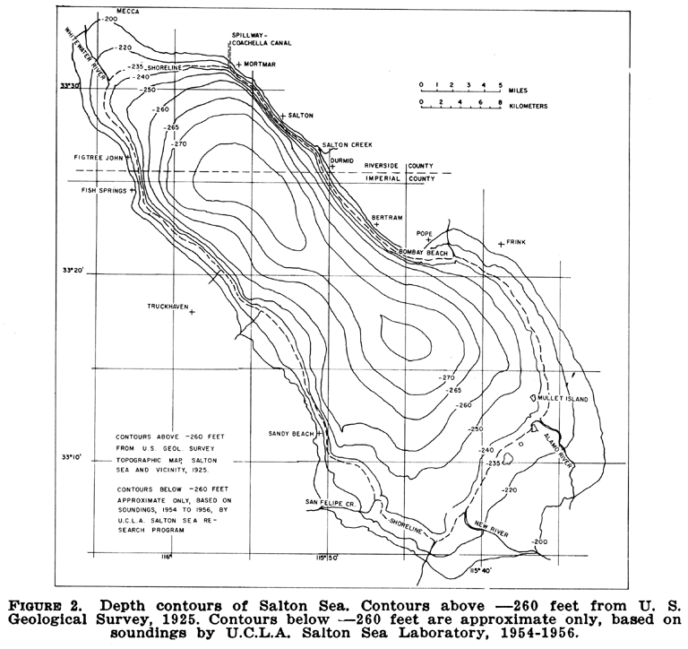 This Is A Topographic Map Of The Salton Sea. I Nee