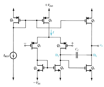Solved: The Following Circuit Is A Two-stage Op-amp, Which